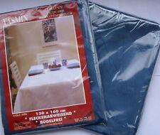 Damast Tischdecke  130 cm X 160 cm dunkel Blau