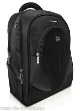 "Mochila Portatil Phoenix Oxford Notebook hasta 17.3"" y Tablet 10"" en Nylon Negro"