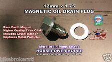 12-1.75 US Made MAGNETIC OIL DRAIN PLUG 1992-2019 CORVETTE 5.7 6.0 6.2 7.0 ALL