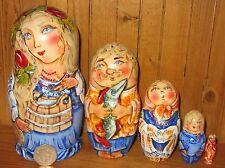 russe dipinte a mano nidificazione bambola 5 BUCATO FAMIGLIA Mum & Water YOKE