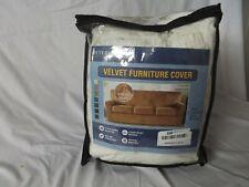 white h.versailtex velvet furniture cover for loveseat, new open box