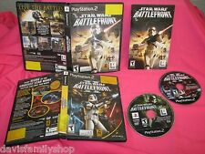 PS2 Playstation 2 Star Wars Battlefront 1 & 2 Games Game II Black Label