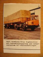 ~1970 altes Foto MAFI Terminal Truc Zugmaschine / KfZ Auto LKW oldtimer