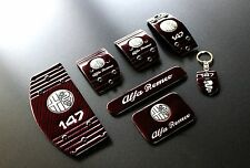 Kit Completo Pedaliera Sportiva Alfa Romeo 147 Carbon Red