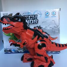 Walking Dinosaur Robot T-rex Toy For Kids With Lighte, Sound Color Red