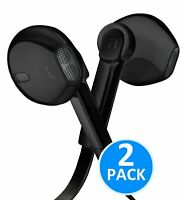 [2 Pack] Earphones with Microphone Premium Earbuds Stereo Headphones and Nois...