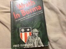 Wrath in Burma by Eldridge; WW2, HCDJ