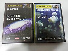 DOCUMENTALES LA MAQUINA DE TIEMPO 2 LA VIDA + VIDA EN EL ESPACIO 2 X DVD UNICO!