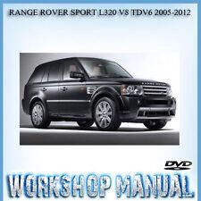 RANGE ROVER SPORT L320 V8 TDV6 2005-2012 WORKSHOP SERVICE REPAIR MANUAL IN DISC