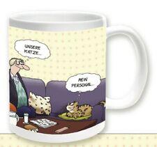 ULI STEIN Porzellan Tasse Henkeltasse Henkelbecher - Katze mein Personal - Neu