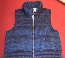 GIRLS Medium Speechless Blue Shiny Full Zip Vest With Pockets