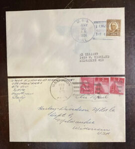 Naval Covers USS Hull And uss Jason, One Addressed To Harley-Davidson 117-80