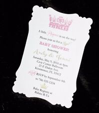 Princess Baby Shower Invitation for Girl - With Envelopes - CUSTOMIZED
