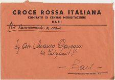 CROCE ROSSA ITALIANA COMITATO XI CENTRO MOBILITAZIONE BARI - RACCOMANDATA A MANO