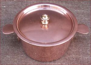 French Tin Lined Copper Lidded Casserole Pan Timbal Cookware Dehillerin
