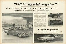 1961 Plymouth PRINT AD Lancer Chrysler Newport