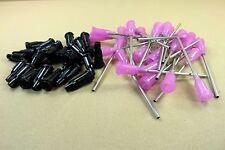 50 Piece Set of 25 Caps & 25 Blunt Dispensing Needles 16 Gauge Adhesives E6000