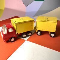 Vintage Tonka Truck And Original delivery Trailer Lorry Truck 1970s Tonka Toys