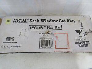 """Ideal Pet Products Aluminum Sash Window Pet Door Adjustable Fit Window 27""""-32"""""""