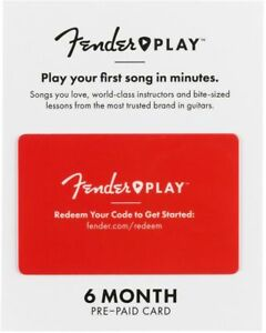 Fender Play Subscription Gift Card - Learn to Play Guitar and Ukulele Lessons