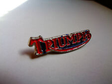 Triumph Motorcycle Pin Biker Badge Factory Vest Jacket Hat Emblem Cafe Racer