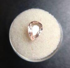 NATURAL Morganite 1.75ct Peach Pink Beryl Pear Cut Rare Loose Gem