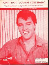 Ain't That Loving You Baby 1959 Elvis Presley Sheet Music