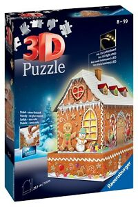 Ravensburger 3D Puzzle - GingerBread House Night Edition