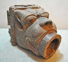 Original Old Antique Fine Quality Wooden Hand Carved Yali Demon Water Spout