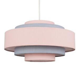 MiniSun Ceiling Light Shade - Modern 5 Tier Cotton Living Room Lampshade + Bulb