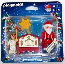 WEIHNACHTSMANN + ENGEL + LEIERKASTEN ORGEL PLAYMOBIL 4889 Weihnachten OVP NEU