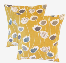 "14"" 16"" 18"" 20"" New Cushion Cover Saffron Yellow Floral Design"