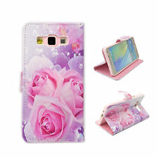 Print Leather Flip Wallet Stand Rubber Soft Case Cover For Samsung Galaxy A5