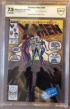 X-Men #244 CBCS Signed Claremont 7.5/Key 1st Jubilee/Marvel Comic/like CGC & PGX