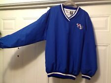 BASEBALL MSBL/MABL V NECK WINDBREAKER MENS MEDIUM ROYAL BLUE AUTHENTIC APPAREL