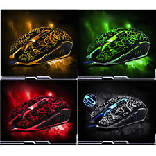 100% New Professional Colorful Backlight 4000DPI Optical Wired Gaming Mouse Mice