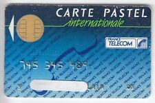 TELECARTE / PHONECARD .. CARTE FRANCE TELECOM PASTEL INT. 1988 PUCE CP8 BULL N°1