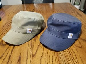 2 Carhartt RIPSTOP MILITARY CAP HAT Army Green Black DISCONTINUED