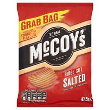 McCOYS RIDGE CUT SALTED POTATO CRISPS 30 X 47.5G PERFECT FOR PARTIES HOME OFFICE