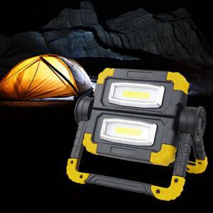 COB LED Arbeitsleuchte Akku Aufladbar Baustrahler Flutlicht Werkstattlampe USB