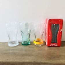MCDONALDS COCA COLA LONDON 2012 OLYMPICS COKE GLASSES TUMBLERS WITH WRISTBAND