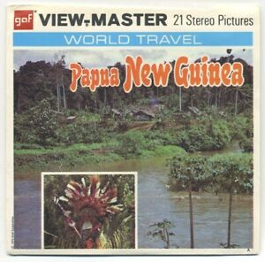 PAPUA New Guinea Australia 1974 GAF View-Master Packet B-282 Exc. Cond.