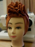 Auto gele,pretied front rose turban,chemo hat, African turban for women, boho