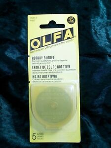 Olfa Genuine Quality 45mm Rotary Cutter Blades 5 Pack and Free Post Option