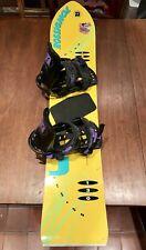 Rossignol Junior Directional Throwback Snowboard w/ Bindings 130 cm Yellow Retro