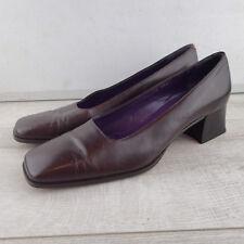 Ralph Lauren  Womens sz 8 b shoes brown  block heel italy made leather  a6