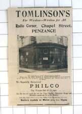 1933 Tomlinson's Wireless For All At Radio Corner Chapel Street Penzance