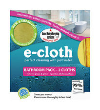 NEW! E-CLOTH Bathroom Polyester / Polyamide Cleaning Cloth 2-Pack 10604