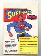 Anfang 70er Jahre Werbe-Papiertüte 1 Seite Superman, andere Seite Asterix Ehapa
