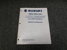 1989 Suzuki Sidekick 1.6L G16 Engine Parts Catalog Manual Convertible 1990 1991